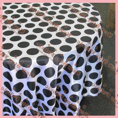 tablecloth round 108 polka dot charmeuse 3