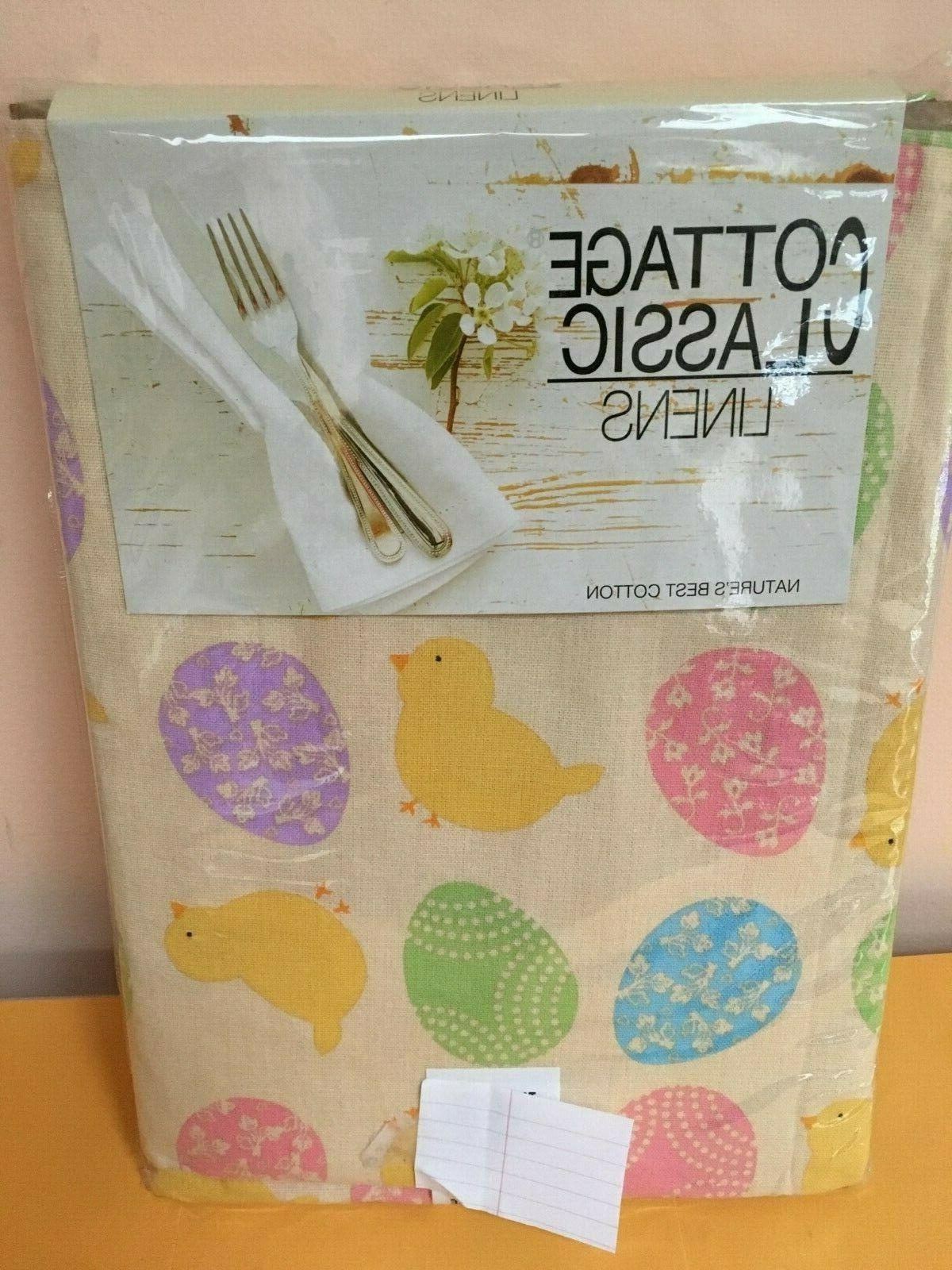 tablecloth various sizes spring easter eggs