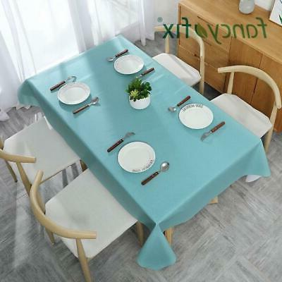 tablecloth waterproof wrinkle free cotton linen rectangle