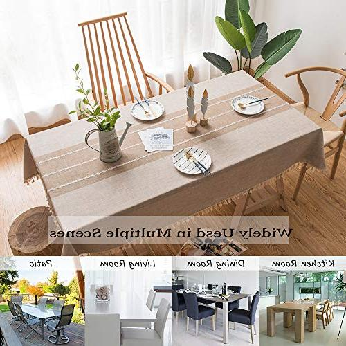 Cloth Linen Wrinkle Free Tassel Table for Dining