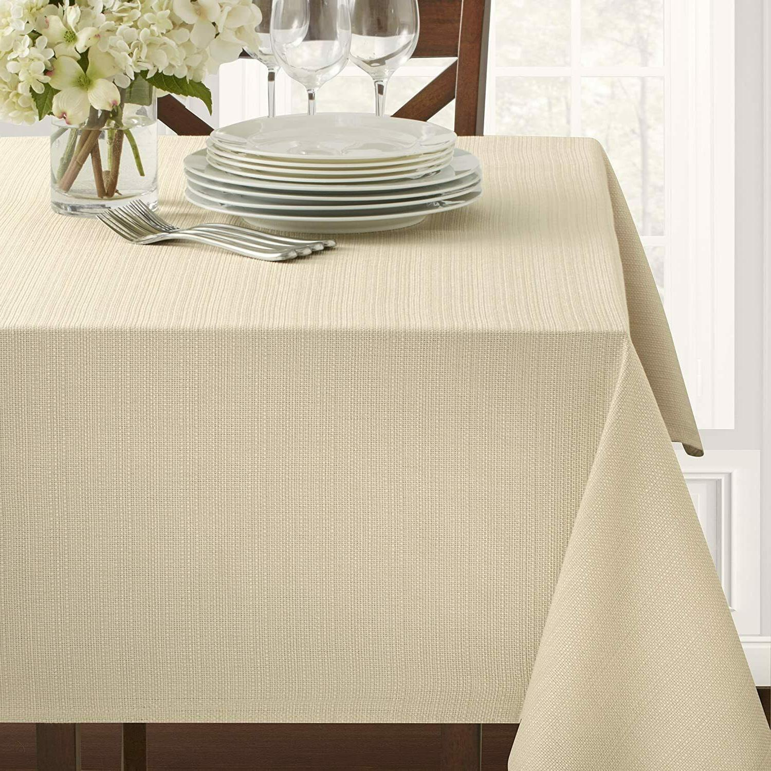 Benson Mills Textured Fabric Tablecloth  Cameron TABLECloth