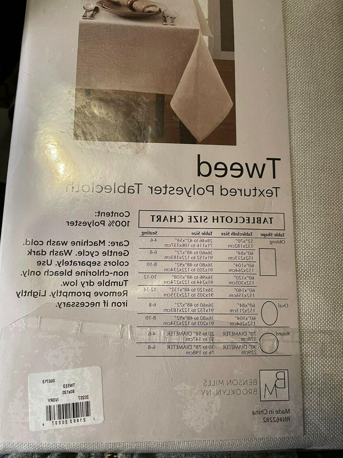 "Benson Mills Tweed Tablecloth 60""x120"",Oblong, Care,"