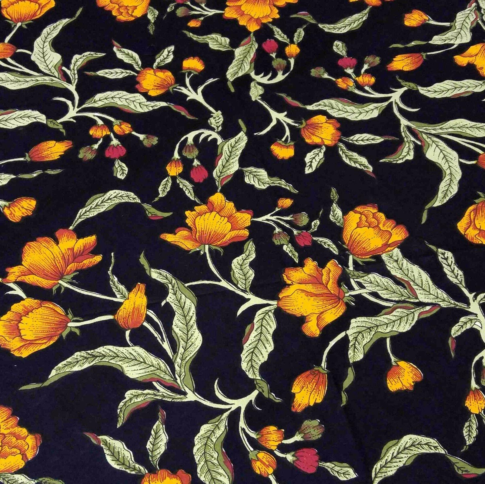 Unique 100% French Floral Tablecloth 90 Inch Round Amber