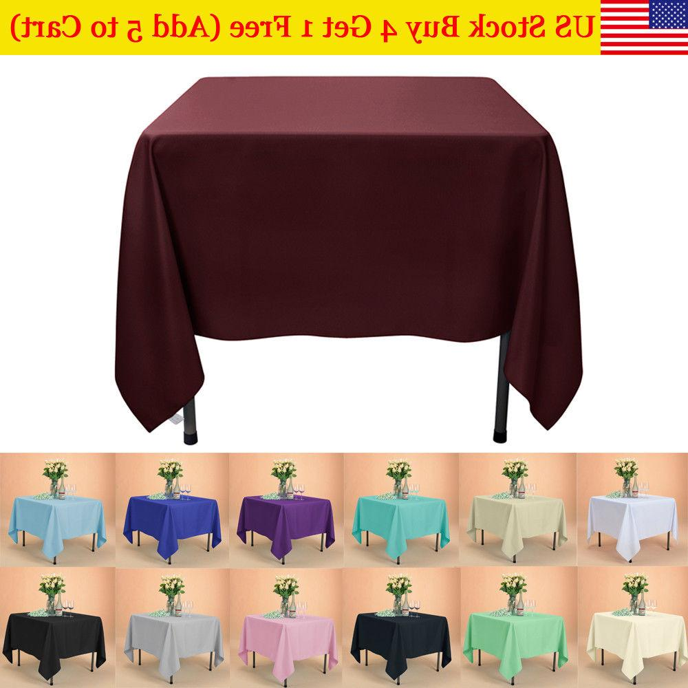us square tablecloth in washable poly