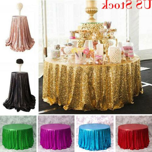 usa round sequin tablecloths table cloth cover