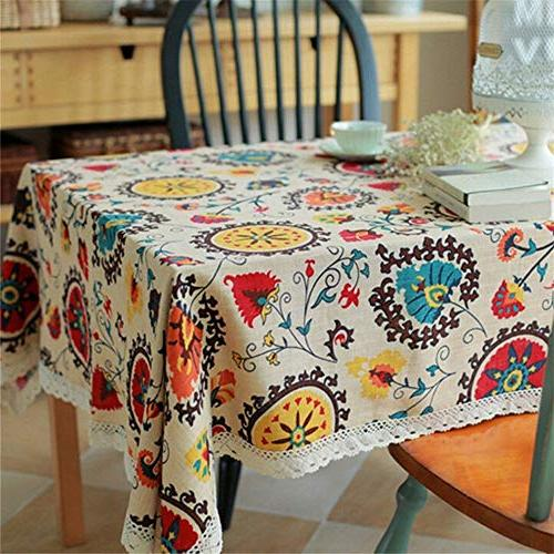 vintage lace sun flower tablecloth
