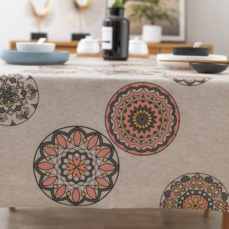 Leevan Vinyl Tablecloth Weight Pvc Table Cover 100% Waterproof O