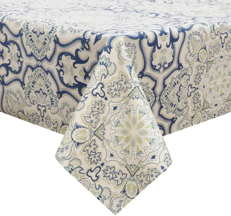 vinyl tablecloth rectangular table cover wipe clean