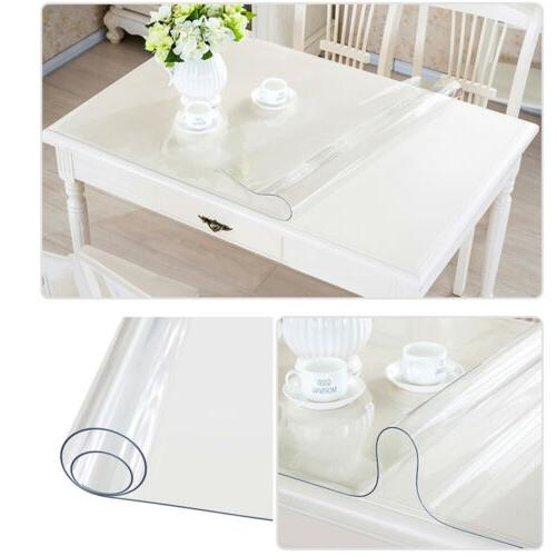 Waterproof Clear Plastic Tablecloth Protector Table Cover