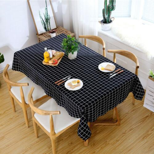 Table Rectangular Oilproof Tablecloth Kitchen Dining Room