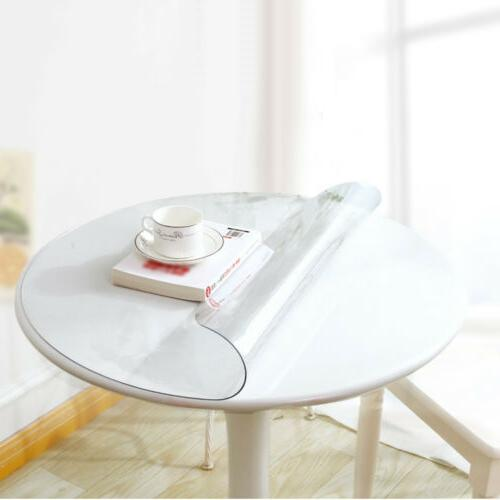 PVC Clear Fitted Table Waterproof Wipe