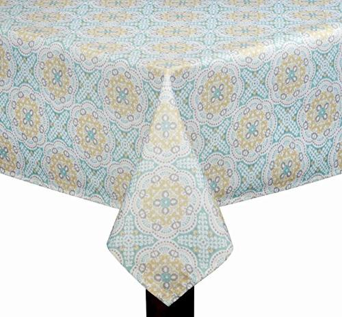 waverly astrid printed fabric tablecloth