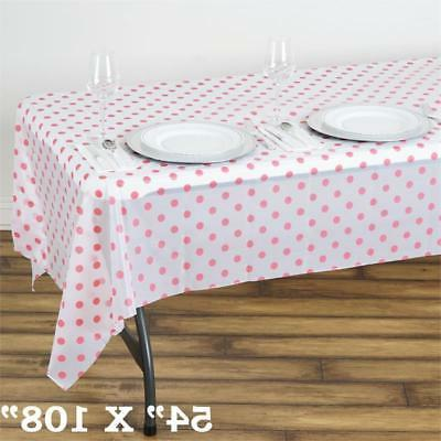 white pink rectangle 54x108 polka dots disposable