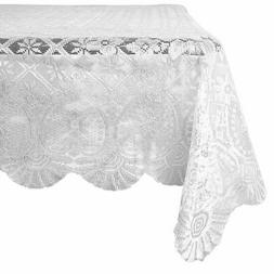 Lace Rectangular Table Cloth Cover Tablecloth for Wedding, 5