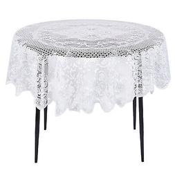 Lace Tablecloth - 54 Inch - Round Tablecloth with Elegant Fl