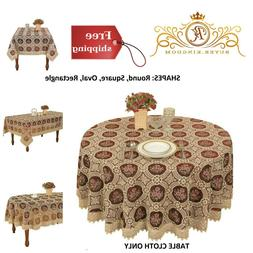 Lace Tablecloth Table Cloth Cover Round Square Oval Rectangl