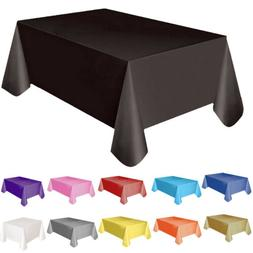 Large Plastic Rectangle Table Cover Cloth Wipe Clean Party T