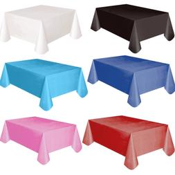 Plastic Fitted Stretch Tablecloth Rectangular Table Cover We