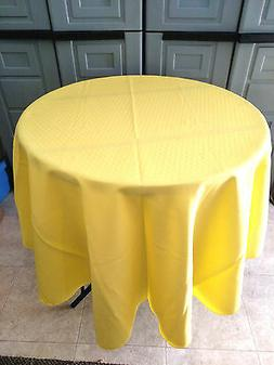 Lemon Yellow polyester Tablecloth - Oval,Square,Rectangular,