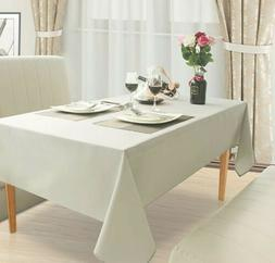 Light Beige Linen Tablecloth Rectangle Washable Fabric Table