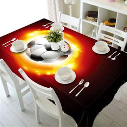 Light Of Football3D Tablecloth Table cover Cloth Rectangle W