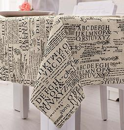 LINENLUX Square Cotton Feel Tablecloth
