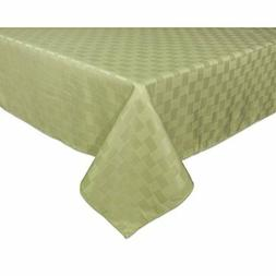 """Bardwil Linens Reflections 60""""x84"""" Oblong Tablecloth, Sage F"""