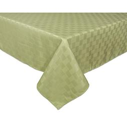 """Bardwil Linens Reflections 60""""x84"""" Oblong Tablecloth, Sage"""