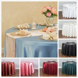 LinenTablecloth 118 in. Round Satin Tablecloth 33 colors! We