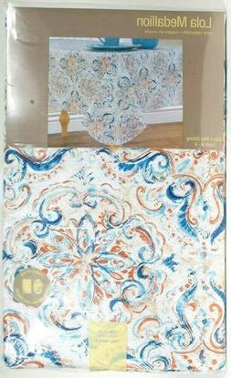 Elrene Home Fashions Lola Medallion 60 In X 84 In Oblong Sea