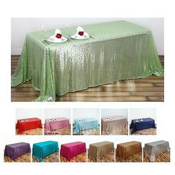 "LUXURY COLLECTION Duchess Sequin Rectangle Tablecloth 90"" x"