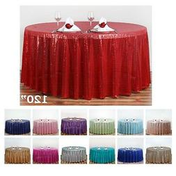 """LUXURY COLLECTION Duchess Sequin Round Tablecloths 120"""" For"""