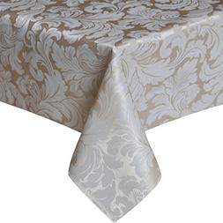 Eforcurtain Elegant Damask Jacquard Rectangle Tablecloth Wat