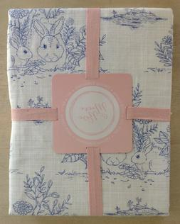 Maeve & Rose Easter BUNNY RABBIT FLORAL TOILE TABLECLOTH  ~