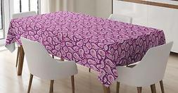 Magenta Tablecloth Ambesonne 3 Sizes Rectangular Table Cover