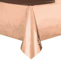 Metallic Rose Gold  Plastic Table Cover - Rectangle