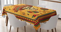 Ambesonne Mexican Decorations Tablecloth by, Mexican Sugar S