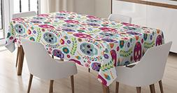 Ambesonne Mexican Decorations Tablecloth, Different Mexico L