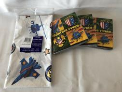 Military American Heroes Party Napkins And Tablecloth