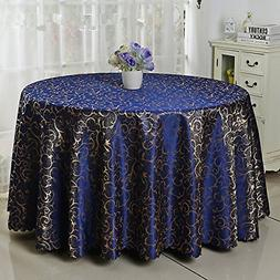 Eforcurtain Modern Damask Tablecloth Jacquard Overlay Table