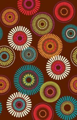 FLORAL Modern Motiff PAPER TABLE COVER~Birthday Party Suppli