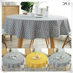 Modern Round Tablecloth Cover Kitchen Dinning Wedding Party