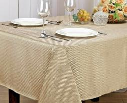 MONARCH COLLECTION TEXTURED JACQUARD FABRIC TABLECLOTH, RECT