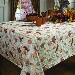 Benson Mills Natures Leaves Jacquard Printed Fabric Tableclo