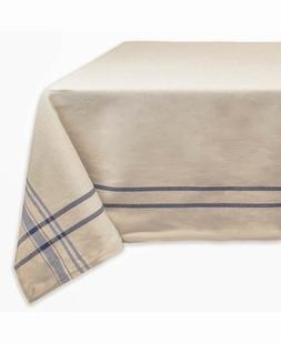 """DII Nautical Blue French Stripe Tablecloth, 60x84"""", 100% Cot"""