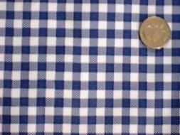 NAVY BLUE GINGHAM CHECK COUNTRY KITCHEN DINING OILCLOTH VINY