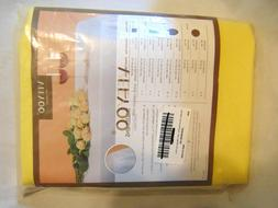 """New 108"""" Round Party Banquet Yellow Tablecloth Table Cover V"""