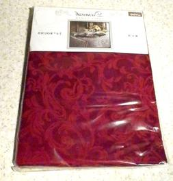 "NEW 70"" ROUND RED DAMASK TABLECLOTH COTTON / POLYESTER BLEND"