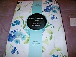 "NEW Cynthia Rowley BLUE FLORAL TABLECLOTH 60"" X 84"" Forget M"