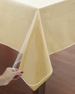 NEW - Classic Touch Crystal Clear Tablecloth Cover - Vinyl T